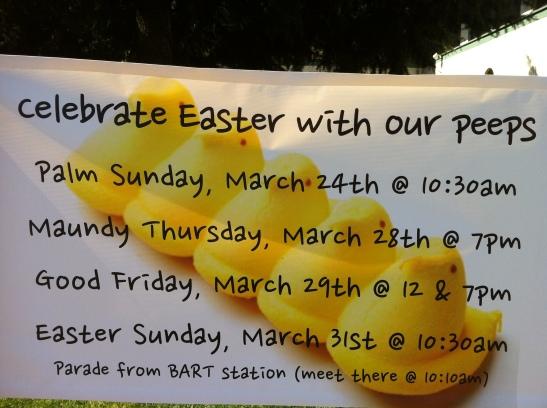 Easter Peeps Banner