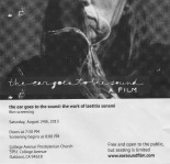 Laetitia Sonomai film advert 8/24 at 7pm at CAPC
