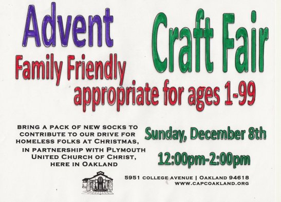 Advent Craft Fair Flyer