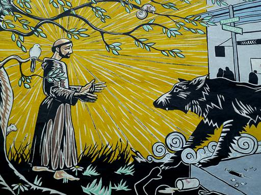 st. francis and the wolf
