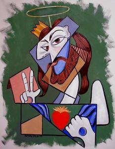 Cubist Portrait of Jesus