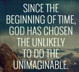 God chooses unlikely