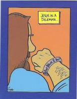 Jesus in a dilemma