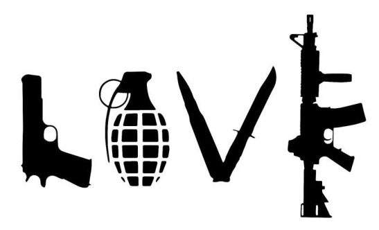 Love written in weapons