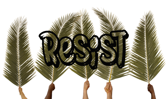 Resist On Palm Leaves