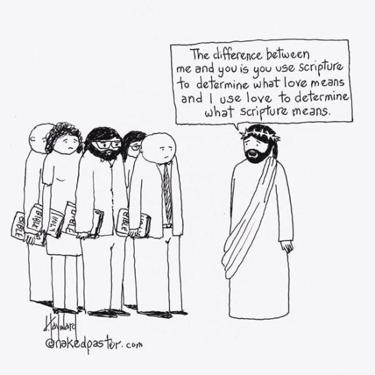 Naked Pastor Cartoon on Love