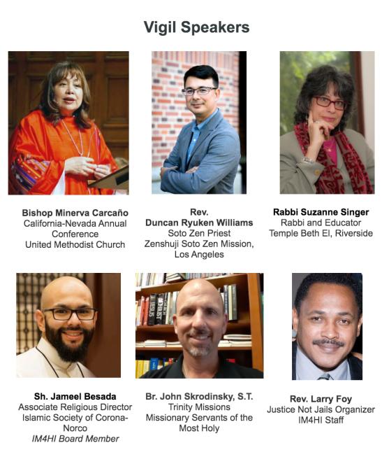 Interfaith Vigil Speakers