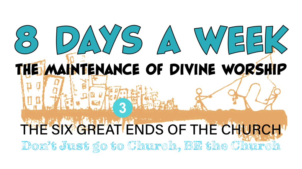 Logo for the 3rd Great end of the Church - the maintenance of divine worship.